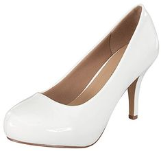 Delicacy Womens Classic Closed Toe High Heel Pump 85 BM US White -- For more information, visit image link. (This is an affiliate link) Sexy High Heels, High Heel Pumps, Pumps Heels, Sofft Shoes, Round Toe Pumps, Mary Jane Shoes, Dress And Heels, Patent Leather