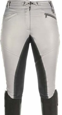 These HKM Cavallino Marino breeches are soft and comfortable with a super stretchy alos seat. You will fall in love with the crystal bit on the front. #hkm #breeches #dressage #silver #fabuloushorsenj