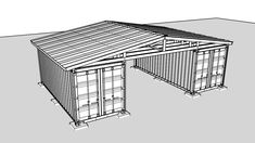 This is another project for Chief Don. They have a project where they take two shipping containers and build a roof over them to create an area to do mainten. Shipping Container Workshop, Shipping Container Buildings, Container Homes Cost, Container Shop, Building A Container Home, Shipping Container House Plans, Container House Design, Shipping Containers, Container Houses