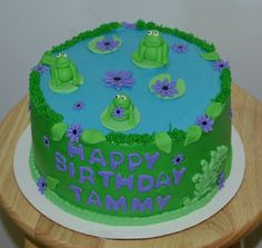 Frog birthday cake www.facebook.com/SugarWhipped
