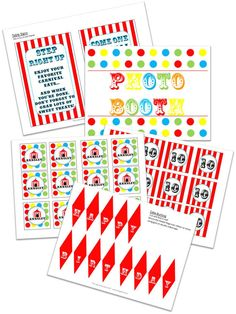 printable circus theme party