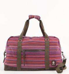 Roxy Wanderful Striped Duffle Bag