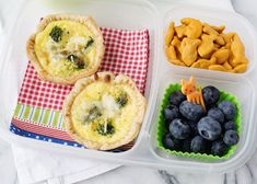 Mini Broccoli Quiche
