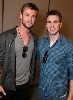 Chris H. & Chris E. - Thor and Captain America