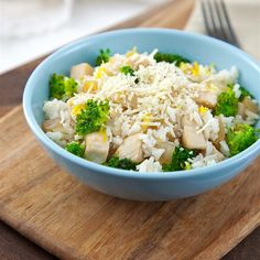 """Lemon-Parmesan Chicken and Rice Bowl   """"A quick and delicious meal that is healthy and the family will love it. Cheesy, lemony, crunchy!"""""""