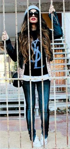 YSL outfit perfection. #beanie