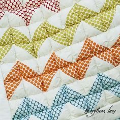 Chevron puff quilt. No directions (unless you buy them) but it looks neat & I bet I could figure it out ;)