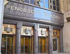 Penobscot Building, Detroit, built in the roaring twenties.