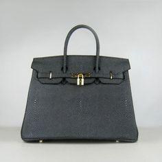 5697918da6e Exquisitely-designed 35CM Hermes Birkin Bags Black GHW Hermes Birkin