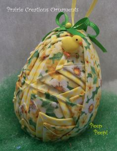 Quilted Ornament Easter Egg