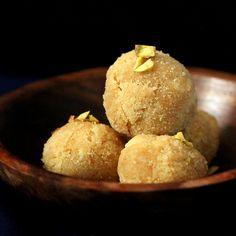 Coconut Rava Ladoo and Burfi - Coconut Semolina Cashew Sweet Balls. Vegan Recipe Glutenfree option - Vegan Richa