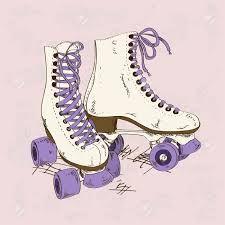 Resultado de imagen de dibujos de niños en patines
