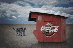 Coke is everywhere.