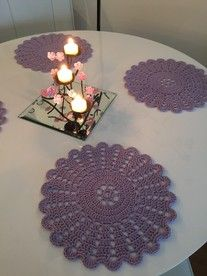 Pitsiliinat | virkattu Doilies, Knitting, Crochet, Stitching, Diy, Chrochet, Build Your Own, Tricot, Bricolage