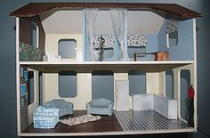 Turn leftover bits of packaging into a doll house