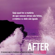 Citando Livros: As Melhores Frases: SÉRIE AFTER - Anna Todd Good Books, Books To Read, My Books, Series Movies, Book Series, Sweet Love Quotes, Sad Wallpaper, Romance, After Movie