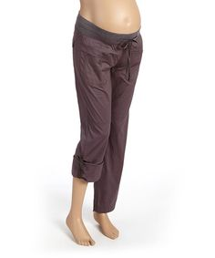 Look at this #zulilyfind! Dark Charcoal Maternity Convertible Capri Pants - Women #zulilyfinds