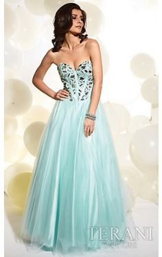 Long Strapless Formal Gown P713 TI-P713