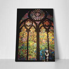 """Street Art Cathedral (20""""L x 16""""W x 1.25""""H)"""