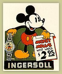 Old Ingersoll Mickey Mouse Watch Ad. 1930s