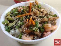 Arroz Gohan estilo sushi sin rol. Delicia japonesa en tu cocina. | 16 Deliciosas recetas con arroz que mejorarán tu vida entera
