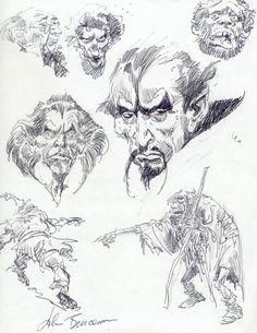 Heads Comic Art