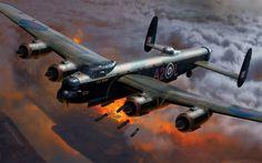 Herunterladen hintergrundbild avro 683 lancaster, britische schwere bomber der royal air force, weltkrieg ii, ww2, welt der flugzeuge