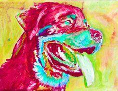 Rottweiler Dog art print dog painting art Print by OjsDogPaintings #rottweiler #dogart #painting #rottie #rottweilergift