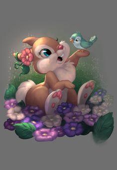 Disney Bunny by Yettyen on DeviantArt Arte Disney, Disney Art, Disney Pixar, Disney Drawings, Cartoon Drawings, Cartoon Art, Disney Images, Disney Pictures, Cute Animal Drawings