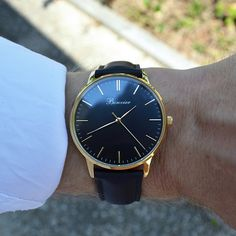 Classic Black on the wrist. Free shipping worldwide - www.bonvier.com #bonvier #watches #orologi