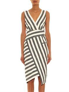 ALTUZARRA Jessica blanket-striped dress