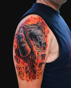 Jamie Lee Parker - Fire Horse Tattoo - Tattoos and Fine Art