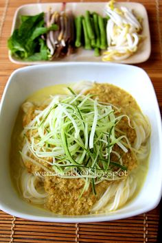 Table for 2.... or more: Num Banh Chok @ Khmer Noodles - AFF Indochina~ Cambodian #1