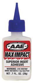 AAE CAVALIER INC AAE Max Impact Insert Glue .7oz, EA