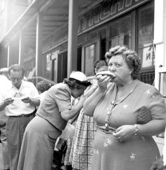 1950s Everyday Life | 1950: Mmmm. Almost synonymous with Coney Island, the hot dog