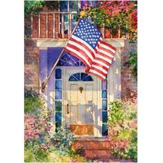 Patriotic Home House Flag