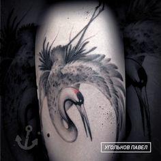 журавль выполнен с эмитацие японской акварели #арткухня #угольковпавел #ugolkovpavel #тату #tattoo #artkuhnya Watercolor Tattoo, Tattoos, Animals, Tatuajes, Animales, Animaux, Tattoo, Animal, Animais