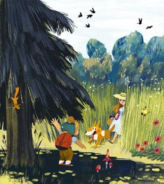 With Dogs by Olga Demidova, via Behance
