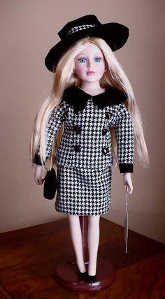 """16"""" Porcelain Jackie Blonde Hair Blonde Hair, Barbie, Porcelain, Dolls, Garden, Gifts, Collection, Vintage, Decor"""