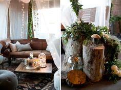 Rustic lounge area