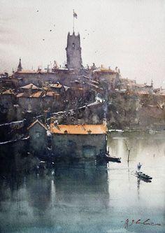 Joseph Zbukvic watercolor master! http://jzbukvic.com/