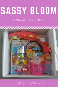 Sassy Bloom Subscription Box for our 8 month old daughter.