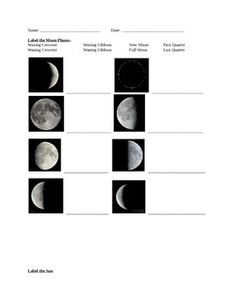 Worksheet Phases Of Moon Quiz this quiz shows the different cycles of moon in a picture use first page for phase quiz