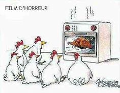 Gary Larson's Far Side Cartoons Gary Larson's Far Side Cartoons: Horror Flick Matinee / Rotisserie Far Side Cartoons, Funny Cartoons, Funny Comics, Cartoon Jokes, Funny Cartoon Pictures, Funny Images, Bing Images, Images Photos, Thanksgiving Turkey Pictures