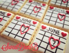 Save the date cookies.