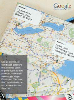 Google Maps Envelopes