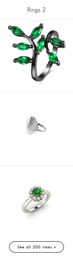 """""""Rings 2"""" by shadowfang52 on Polyvore featuring jewelry, rings, leaves jewelry, gem rings, artificial jewelry, imitation jewellery, gemstone jewellery, sea shell jewellery, sea shell ring and silver jewellery"""