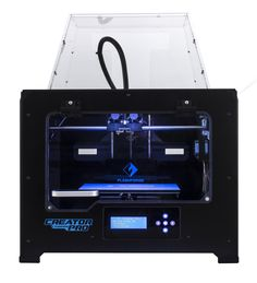 FlashForge 3d Printer Creator Pro, Metal Frame Structure, Acrylic Covers, Optimized Build Platform, Dual Extruder W/2 Spools, Works with ABS and PLA: Amazon.com: Industrial & Scientific