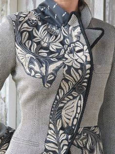 Great for a large, overwhelming pattern---ndalia Fashion - Asian and Italian fabrics combined with Italian tailoring