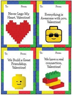 Lego Valentines FREE Printable Cards!!!!